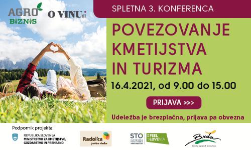 Pridružite se nam na 3. konferenci Povezovanje kmetijstva in turizma